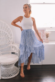 Ana Skirt - Blue Print-Skirts-Womens Clothing-ESTHER & CO.