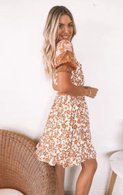 Asa Dress - Orange Print-Dresses-Womens Clothing-ESTHER & CO.