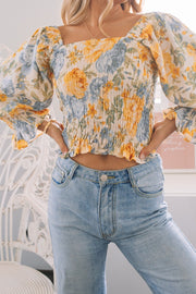 Carmilla Top - Floral Print-Tops-Womens Clothing-ESTHER & CO.