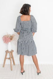 Charo Dress - Black Gingham-Dresses-Womens Clothing-ESTHER & CO.