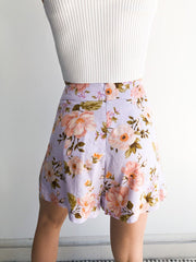 Chateau Shorts - Lilac Print-Shorts-Womens Clothing-ESTHER & CO.