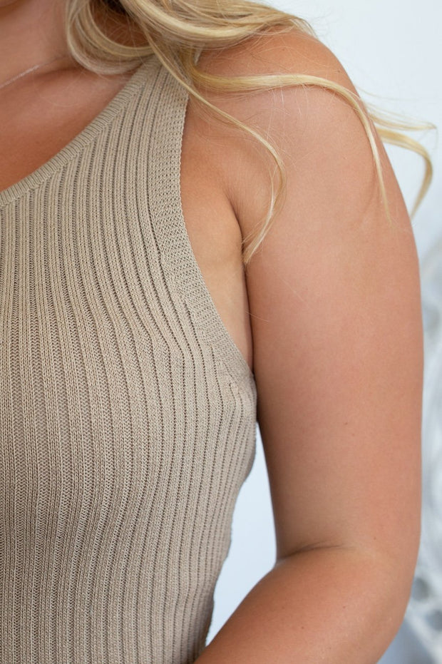 Cosette Dress - Taupe-Dresses-Womens Clothing-ESTHER & CO.