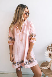 Folks Dress - Pink