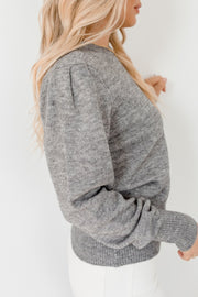 Ilinca Knit - Grey-Tops-Womens Clothing-ESTHER & CO.