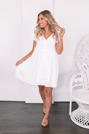 Kylie Dress - White-Dresses-Womens Clothing-ESTHER & CO.