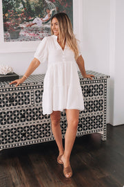 Lillie Dress - White-Dresses-Womens Clothing-ESTHER & CO.