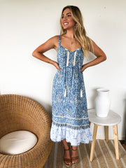 Janice Dress - Blue Print