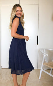Oakleigh Dress - Navy