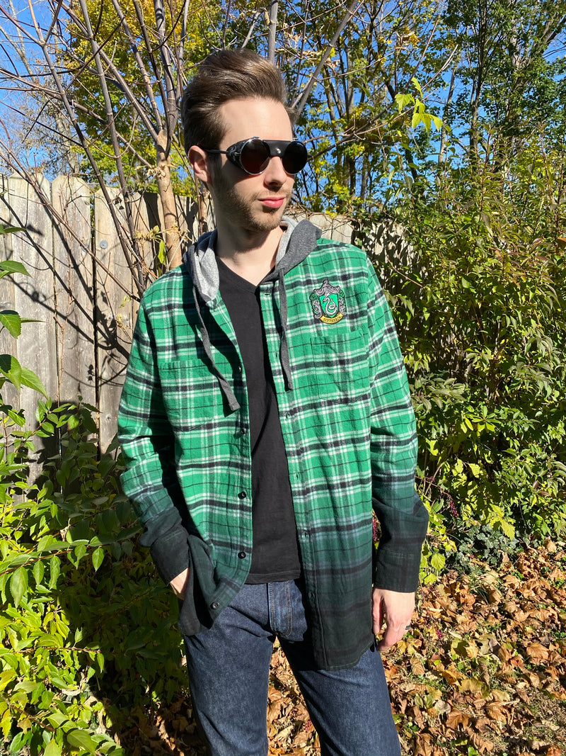 Our Universe Harry Potter Slytherin Green and Black Flannel