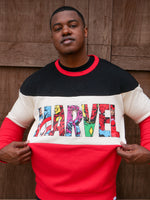 Our Universe Marvel Color Block Crew Neck Fleece