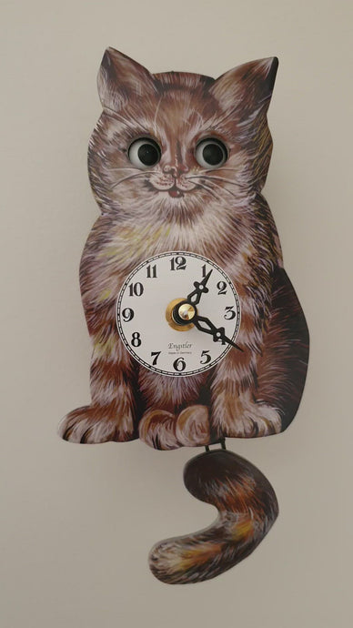 Cat Wall Clock With Moving Eyes