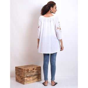 Rita Embroidered Peasant Top