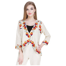 Load image into Gallery viewer, Floral Embroidered Shrug