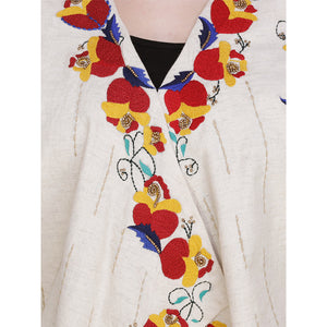 Floral Embroidered Shrug