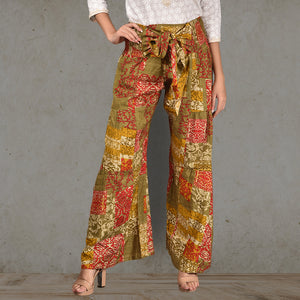 Boho Patched Flare Pants