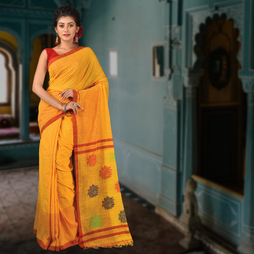 Handloom Saree Yellow