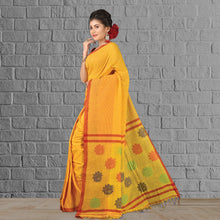 Load image into Gallery viewer, Handloom Saree Yellow