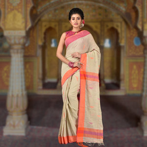Cotton Slub Handloom Saree