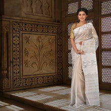 Load image into Gallery viewer, Pure Dhakai Jamdani With Full Body Work - Cotton Silk