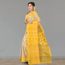 Load image into Gallery viewer, Pure Dhakai Jamdani Full Body Work with Zari - Silk