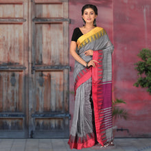 Load image into Gallery viewer, Heena Temple Border Handloom Saree