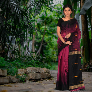 Handloom Saree with Zari Accents