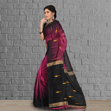 Load image into Gallery viewer, Handloom Saree with Zari Accents