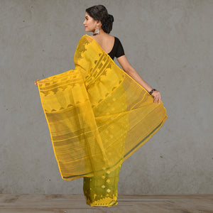 Pure Dhakai Jamdani With Full Body Work - Cotton Silk