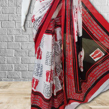 Load image into Gallery viewer, Vedika Mulmul Print Saree