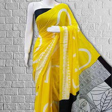 Load image into Gallery viewer, Laila Mulmul Print Saree