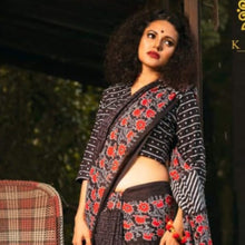 Load image into Gallery viewer, Eva Mulmul Print Saree