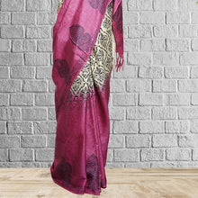 Load image into Gallery viewer, Chitrali Printed Tasar Saree