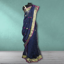 Load image into Gallery viewer, Charumati  Linen Saree