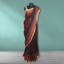 Load image into Gallery viewer, Champabati Linen Kantha  Saree