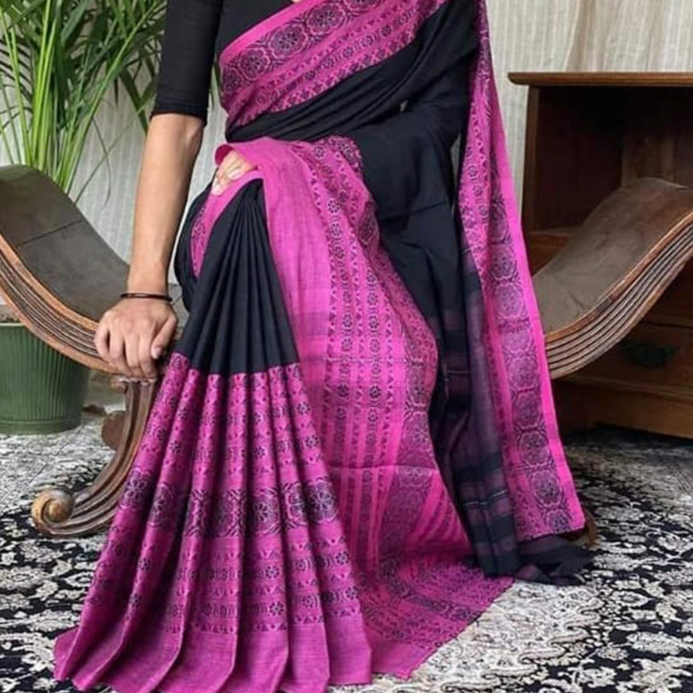 Kiran Pretty Multi Handloom Saree