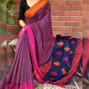 Keya  Pretty Multi Khadi Saree
