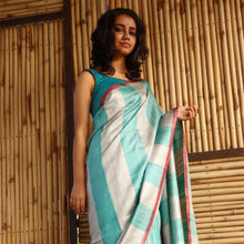 Load image into Gallery viewer, Samia Eco Tasar Sustainable Silk Saree