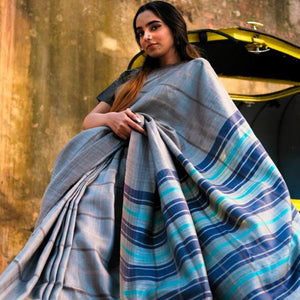 Sania Eco Tasar Sustainable Silk Saree