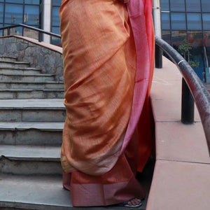 Sarla Eco Tasar Sustainable Silk Saree