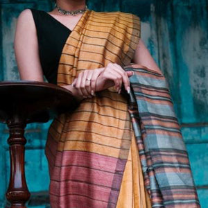 Simmi Eco Tasar Sustainable Silk Saree