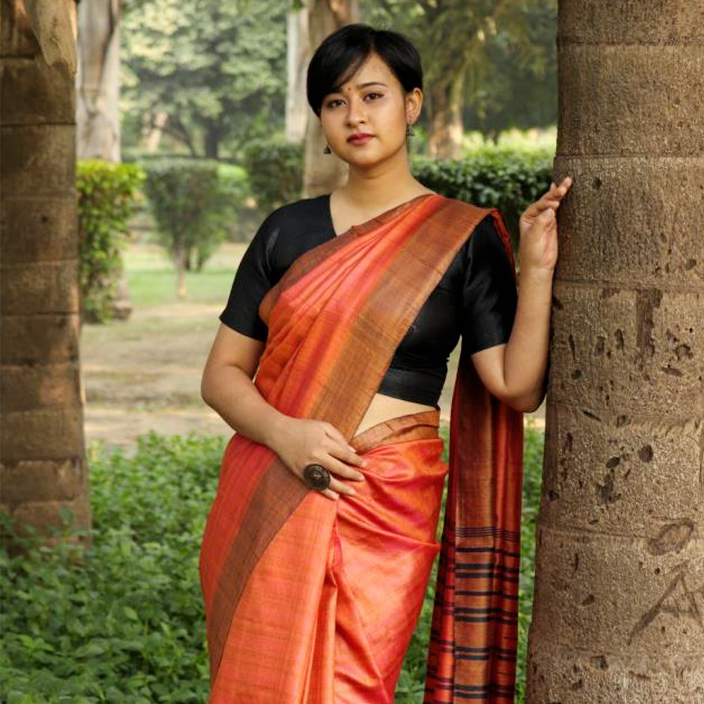Smita Eco Tasar Sustainable Silk Saree