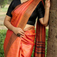 Load image into Gallery viewer, Smita Eco Tasar Sustainable Silk Saree