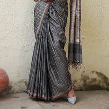 Load image into Gallery viewer, Sneha Eco Tasar Sustainable Silk Saree