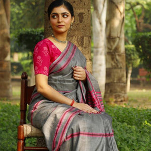 Sreema Eco Tasar Sustainable Silk Saree