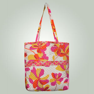 Silk Quilted Tote Bag