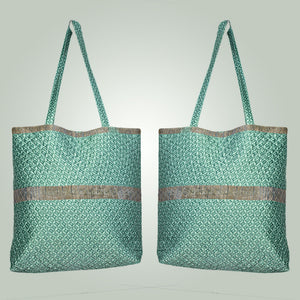 Poly Satin Quilted Tote Bag