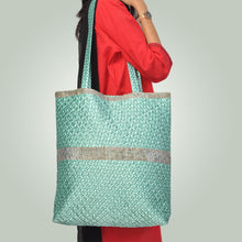 Load image into Gallery viewer, Poly Satin Quilted Tote Bag