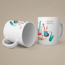 Load image into Gallery viewer, Music Maniac With Music Coffee-Tea Mug