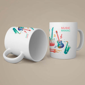 Music Maniac With Music Coffee-Tea Mug