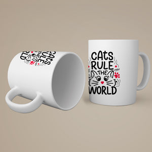 Cats Rule the World Coffee-Tea Mug